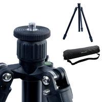Aluminum Tilt Angle Tripod with Ball Head Rotating Yoke for Macro Photography DSLR Camera Foldable