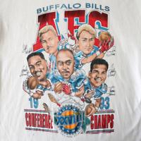 Vintage 90's Buffalo Bills Super Bowl XXVIII Cartoon Caricature T-Shirt A054