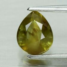 Pear Natural Unheated Greenish Yellow Sapphire