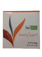 Immunity Support TEE HEAL Green Tea & Lemon Grass & Echinacea 50 bags SEALED NEW