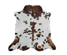 New COWHIDE RUG TRICOLOR 6'x8' Cow Skin Rug Leather Cow Hide Carpet