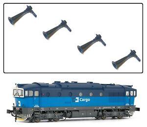 Rivarossi HR2255/02 HO Gauge Air Horns Set of 4 For 753 CD Cargo Diesel Loco NEW