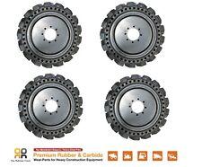 Skids Steer Loader Solid Tires x 4, No Flat 10x16.5 - Bobcat CAT CASE 31x10-20