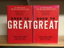 Jim Collins GOOD TO GREAT 2 book LOT VERY GOOD condition; book club or training