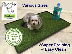 Indoor Dog Puppy Pet  Artificial Grass Toilet Loo Potty House Training Mat Pad