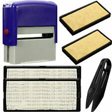 Self-Inking Rubber Stamp Kit Ink Stamper Text Print Office Business Name Address