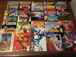 Huge lot of 58 VALIANT & ACCLAIM Comic Books TUROK DINOSAUR HUNTER BLOODSHOT 007