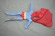 """Vintage Mego SUPERMAN Suit Clothes for 8"""" Tall Action Figure, 1970s DC Comics"""