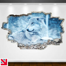 SNOW ANIMAL COLD WOLF DOG Wall Sticker Decal Vinyl Art A5
