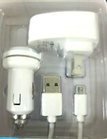 Android Phone Car Charger Kit, Micro USB Cable +Wall Charging Block ce tech 2.1