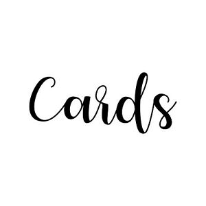 CARDS  Vinyl Decal Sticker - V1 - Wedding Gifts Box Label *Free Shipping*