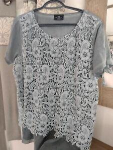 Gina Benotti Shirt mit Spitze , Größe 48