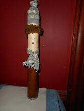 Handmade Knitting Mill Yarn Bobbin Folk Art Christmas Figure AMERICAN PAPER TUBE