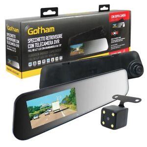 Specchietto retrovisore Videocamera In Dash Gotham doppia camera grandangolo 170