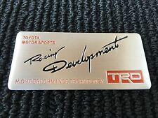 NEW TOYOTA TRD RACING SPORT TRUNK TAILGATE I FENDER EMBLEM LOGO BADGE DECAL #2