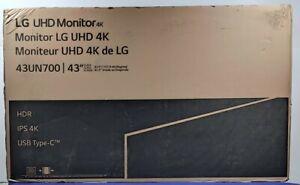 "LG 43UN700-B 42.5"" Class UHD 4K (3840 x 2160) 16:9 HDR10 IPS Monitor with USB-C"