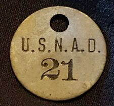 U.S.N.A.D. United States Naval Ammunition Depot #21 ID Tag Token Navy Military