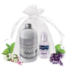 CALM & DREAM- AROMATHERAPY BATH SALTS & PILLOW SPRAY GIFT SET