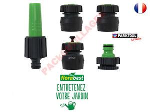 FLORABEST® Set de raccordement de tuyaux 5 raccords flexibles pour tuyaux