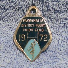 #D498. 1972 Parramatta District Rugby Union Club Member Badge #263