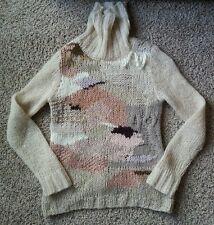Rare Far Away From Close Anthropologie Wool Kid Mohair Alpaca Sweater S