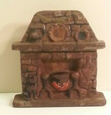 Old Cast Iron Stone Hearth Doorstop Cat ,Andirons ,Sword,Pot, etc