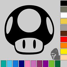 Nintendo Super Mario Mushroom! GLOSS or MATTE! Vinyl Decal Sticker Car, Van, Bik