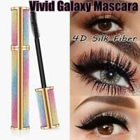 4D Vivid Galaxy Mascara Silk Fiber Lashes Thick Lengthening Waterproof Mascara ~