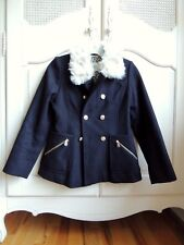Jessica Simpson girls Black winter jacket with Faux Fur collar size L (14-16)