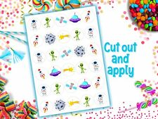 Space Edible Wafer Paper Cupcake Toppers Cake Birthday Party Alien Astronaut