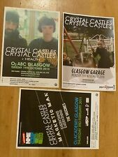 Crystal Castles - Scottish tour Glasgow concert gig posters x 3