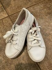 Girls White Keds Courtney Size 10 Tennis Shoes