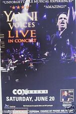 "YANNI ""VOICES LIVE IN CONCERT"" 2009 SAN DIEGO TOUR POSTER - New Age Music"