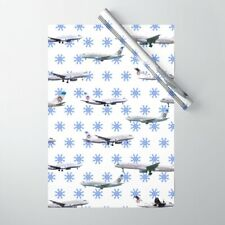 America West Airlines Aircraft - Christmas Wrapping Paper (Red)