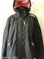 Superdry XL Pop Zip Arctic Fleece Lined Windcheater Black & Pink