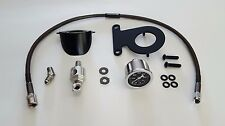 Oil Pressure Gauge Kit for Harley Davidson Sportster- Black