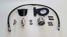 Black Powder Coated Oil Pressure Gauge Kit for Harley Davidson Sportster