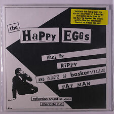 HAPPY EGGS: Wake Up +3 45 (PS, clear vinyl, small spindle hole, reissue)