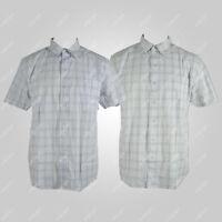 Big Mens Check Casual Shirt Short Sleeve 100% Cotton Plus Size 3XL 4XL 5XL 6XL