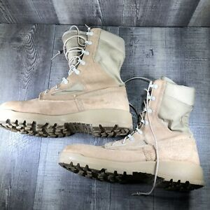 Belleville 390 DES Tan Military Combat Boots Vibram Soles Men's Size 10.5 R EUC
