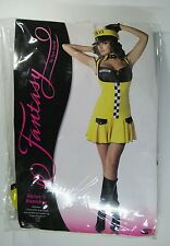 Sexy Taxi Cab Driver Outfit Adult Halloween Costume small/medium 2-8 Halloween