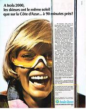 PUBLICITE   1972    ISOLA  2000  station de ski
