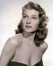 "RITA HAYWORTH AFFAIR IN TRINIDAD 1952 ACTRESS 8x10"" HAND COLOR TINTED PHOTOGRAPH"