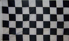 NEW 3x5 ft BLACK & WHITE CHECKERED NASCAR RACING FLAG better quality usa seller