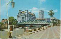 SINGAPORE 1970 superb mint postcard Queen Elizabeth Walk & General Post Office