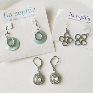 New 3Pairs Lia Sophia Drop Earrings Gift Fashion Women Party Holiday Jewelry B3