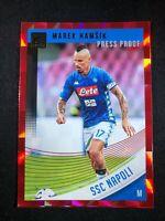 2018-19 Panini Donruss Soccer Marek Hamsik SSC Napoli #74 Red Press Proof