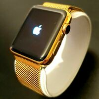 24k Gold Plated Apple Watch Series 3 Smart Watch Milanese Wristband GPS Cellular