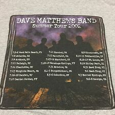 Dave Matthews Band 2002 Tour T-Shirt Rock Music Concert Jam Hippy Guitar Drums