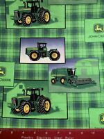 John Deere Cotton Fabric By The Half Yard